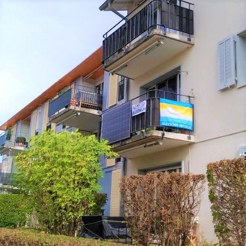 Solarpanels am Balkon